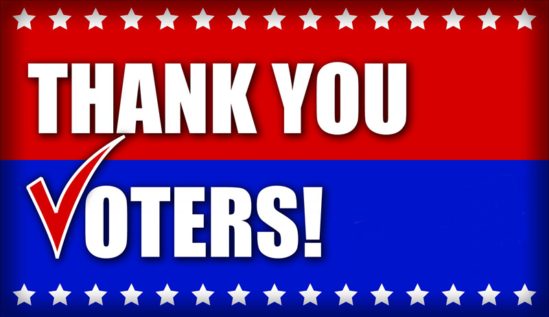 Image result for thank you voters